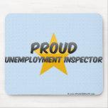 Inspector orgulloso del desempleo tapete de raton