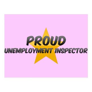 Inspector orgulloso del desempleo tarjeta postal
