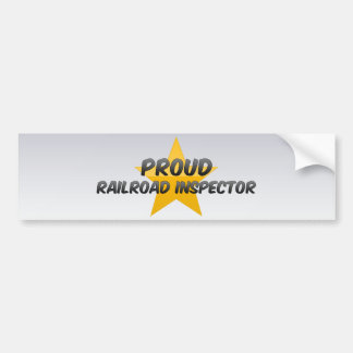 Inspector orgulloso del ferrocarril pegatina para auto