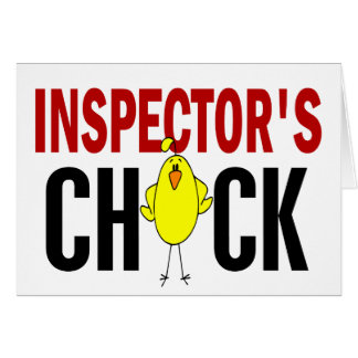 INSPECTOR'S CHICK GREETING CARD