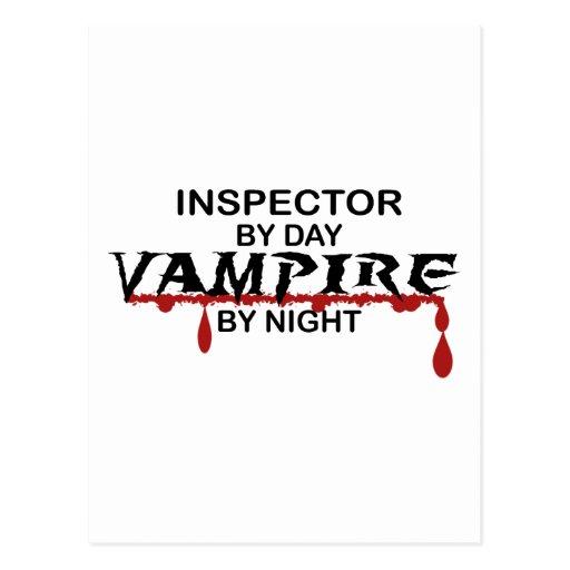 Inspector Vampire by Night Postcard