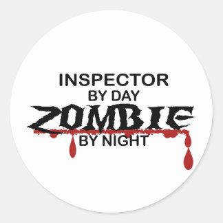 Inspector Zombie Classic Round Sticker