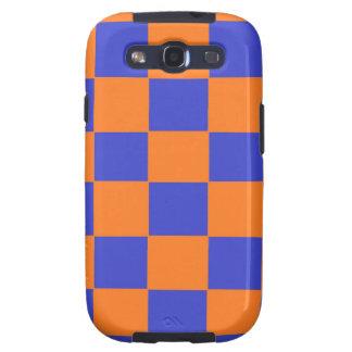 Inspectores anaranjados y azules galaxy s3 protectores