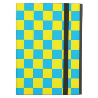 Inspectores azules en fondo amarillo