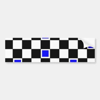 Inspectores azules pegatina para auto