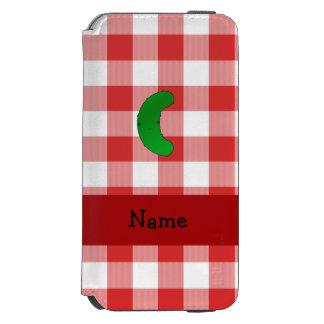 Inspectores blancos rojos personalizados de la funda billetera para iPhone 6 watson