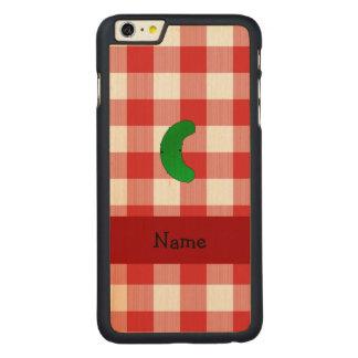Inspectores blancos rojos personalizados de la funda de arce carved® para iPhone 6 plus slim