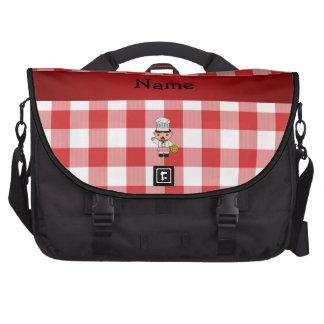 Inspectores blancos rojos personalizados del cocin bolsas para portátil