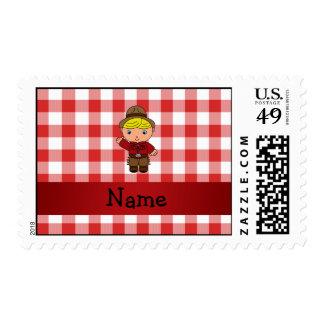 Inspectores blancos rojos personalizados del sello