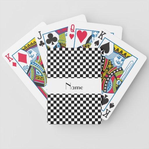 Inspectores blancos y negros conocidos personaliza cartas de juego