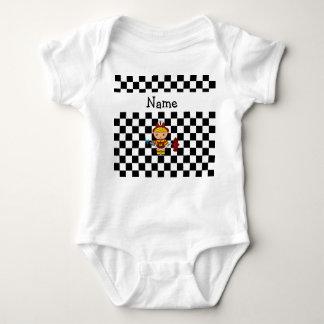 Inspectores blancos y negros personalizados del mameluco de bebé