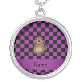 Inspectores conocidos personalizados de la púrpura pendientes personalizados
