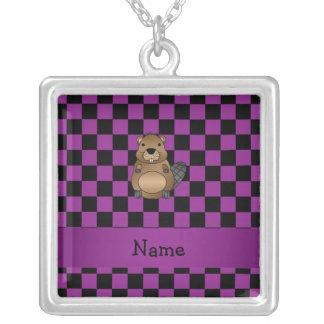 Inspectores conocidos personalizados de la púrpura collar personalizado
