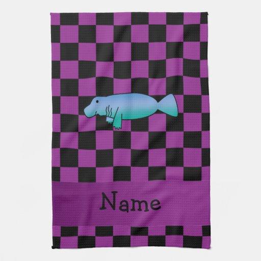 Inspectores conocidos personalizados de la púrpura toalla