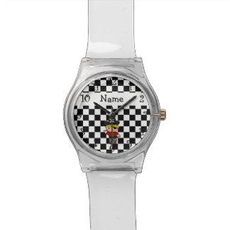 Inspectores conocidos personalizados del blanco de reloj