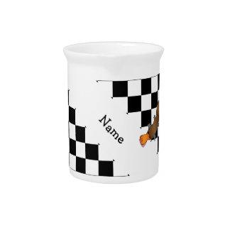 Inspectores conocidos personalizados del blanco jarra para bebida
