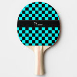 Inspectores conocidos personalizados del negro y pala de tenis de mesa