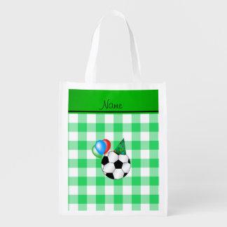 Inspectores conocidos personalizados del verde del bolsas para la compra