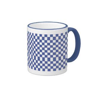 Inspectores del blanco y de los azules claros taza de dos colores