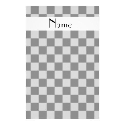 Inspectores grises conocidos personalizados papelería de diseño