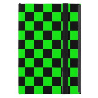 Inspectores negros en el fondo verde de neón iPad mini cobertura