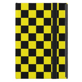 Inspectores negros en fondo amarillo iPad mini protector