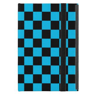 Inspectores negros en fondo azul iPad mini carcasa