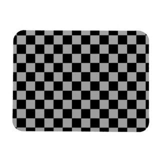Inspectores negros en fondo gris imán rectangular