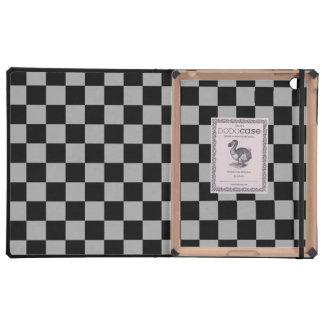 Inspectores negros en fondo gris iPad carcasas