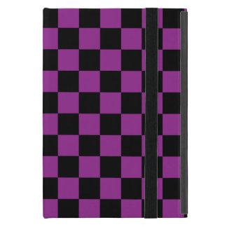 Inspectores negros en fondo púrpura iPad mini protectores