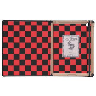 Inspectores negros en fondo rojo iPad cárcasa