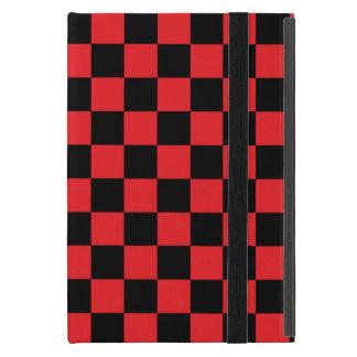 Inspectores negros en fondo rojo iPad mini funda