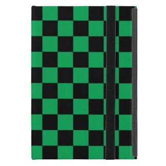 Inspectores negros en fondo verde iPad mini cobertura