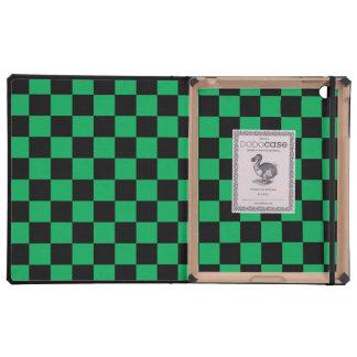 Inspectores negros en fondo verde iPad carcasas