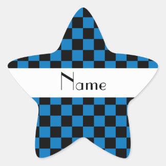 Inspectores negros y azules conocidos pegatina en forma de estrella