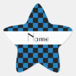 Inspectores negros y azules conocidos personalizad pegatinas forma de estrella