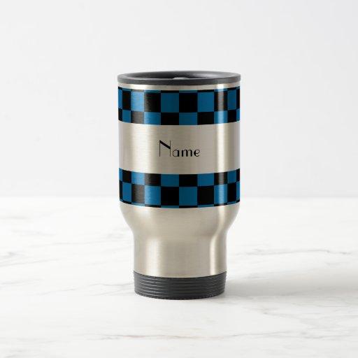 Inspectores negros y azules conocidos personalizad taza