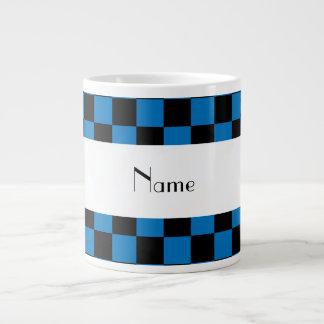 Inspectores negros y azules conocidos personalizad tazas jumbo
