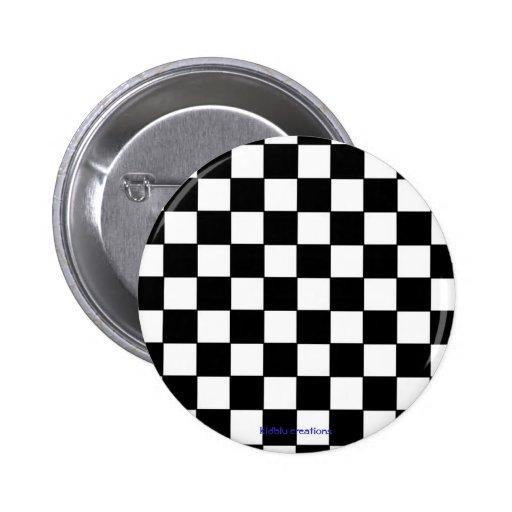 inspectores negros y blancos del botón - pin redondo de 2 pulgadas