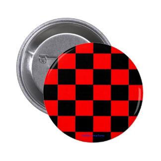 inspectores negros y rojos del botón - pin redondo de 2 pulgadas