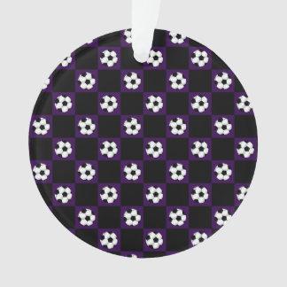 Inspectores púrpuras del balón de fútbol