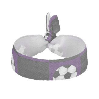 Inspectores púrpuras del balón de fútbol elástico para el pelo
