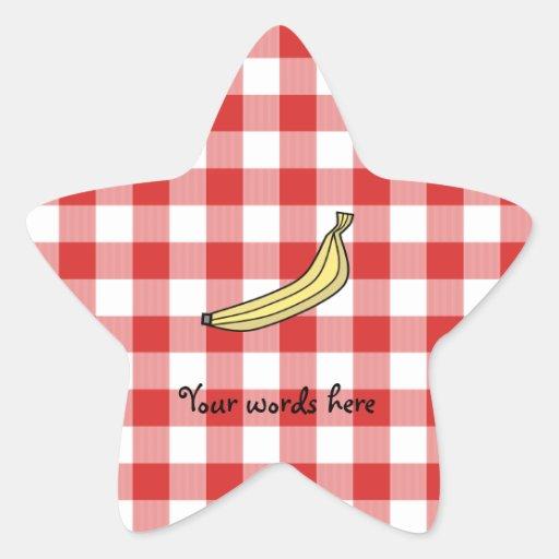 Inspectores rojos de la comida campestre del pláta colcomanias forma de estrellaes personalizadas