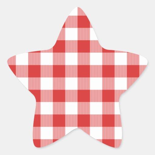 Inspectores rojos de la comida campestre colcomanias forma de estrellaes personalizadas