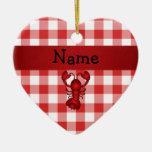 Inspectores rojos personalizados de la comida camp adorno
