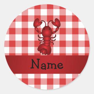 Inspectores rojos personalizados de la comida camp pegatinas
