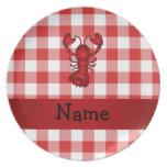 Inspectores rojos personalizados de la comida camp plato para fiesta