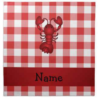 Inspectores rojos personalizados de la comida camp servilleta imprimida