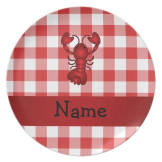 Inspectores rojos personalizados de la comida platos de comidas