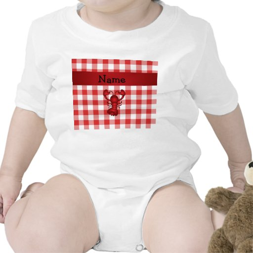 Inspectores rojos personalizados de la comida trajes de bebé